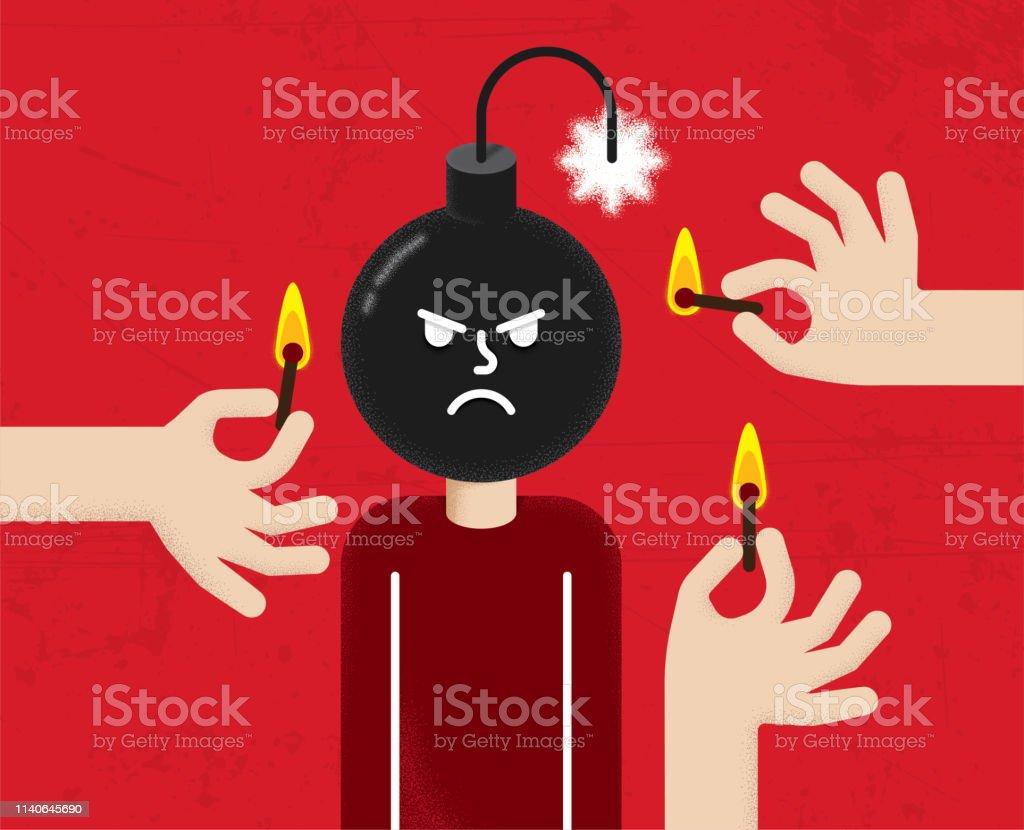Anger Emotions Management Bomb Outburst Grumpy Irritation Mental...