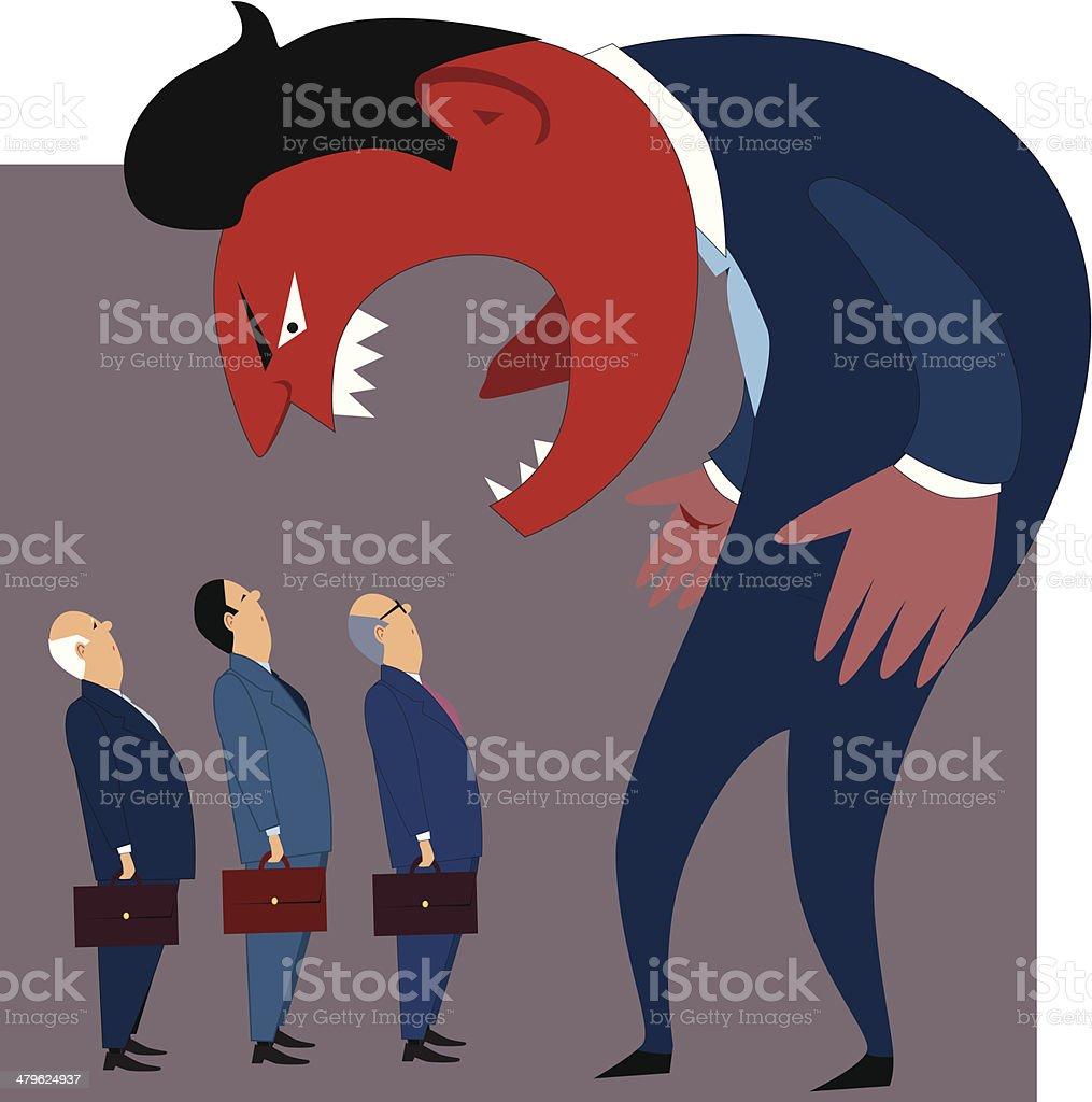 Anger management problems vector art illustration