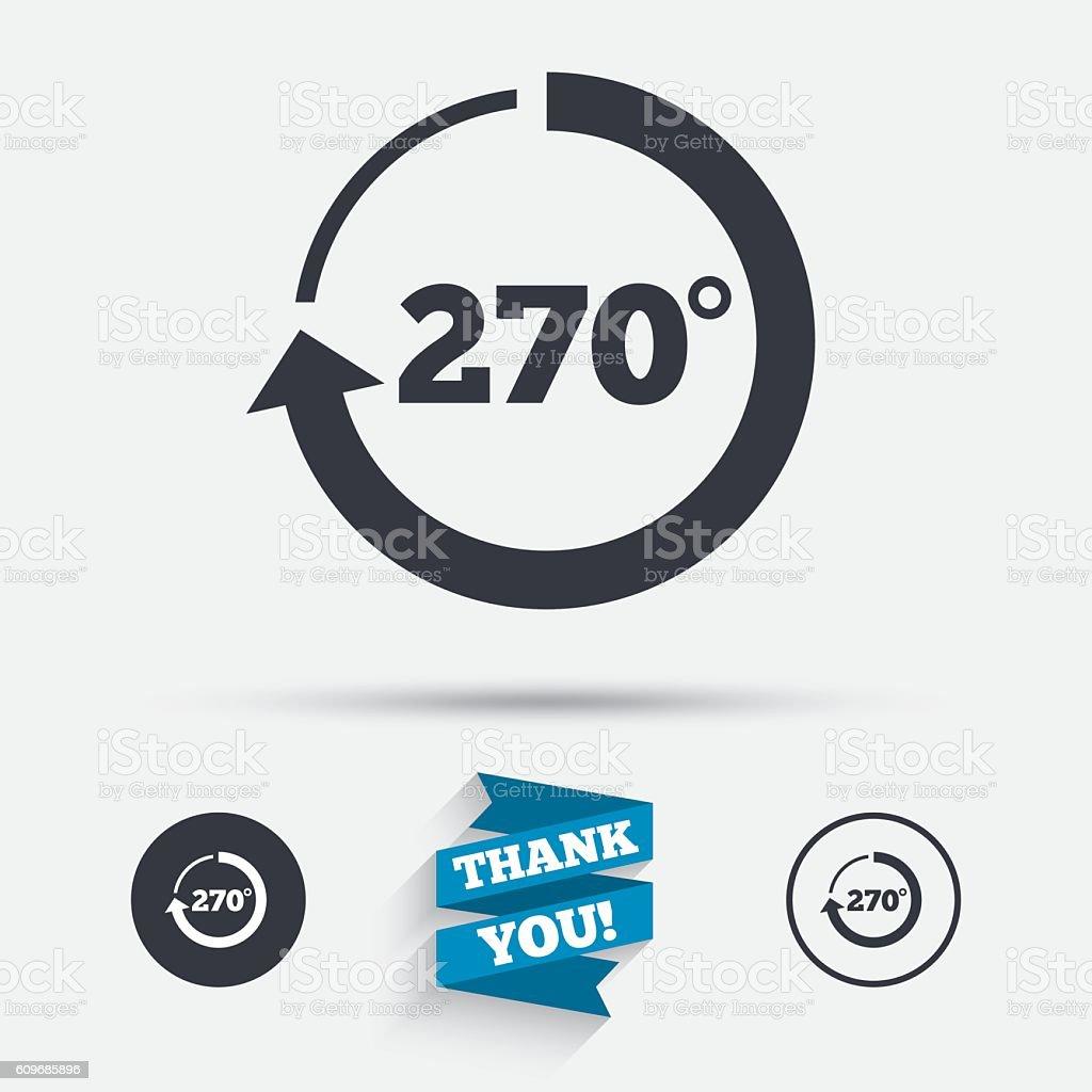 Ilustracion De Angulo De 270 Grados Senal Icono Geometria Simbolo Matematico Y Mas Vectores Libres De Derechos De 70 79 Anos Istock
