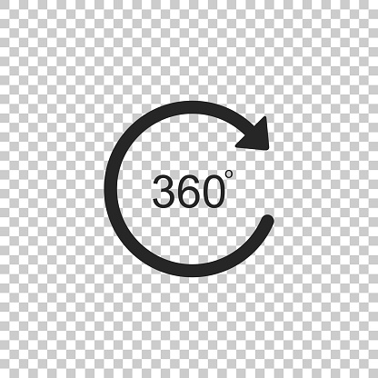 Angle 360 Degrees Icon Isolated On Transparent Background