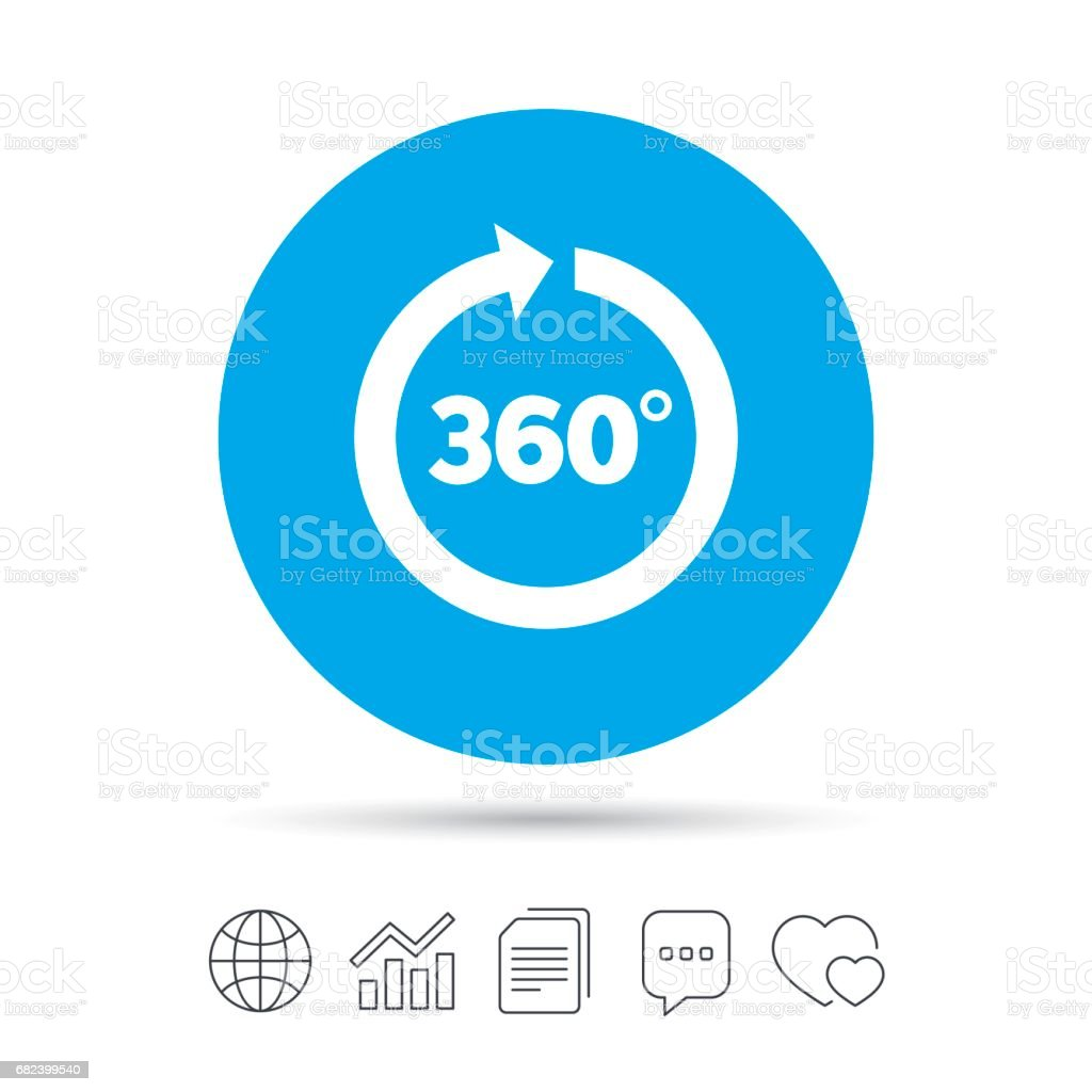 Angle 360 degrees sign icon. Geometry math symbol. royalty-free angle 360 degrees sign icon geometry math symbol stock vector art & more images of 360-degree view