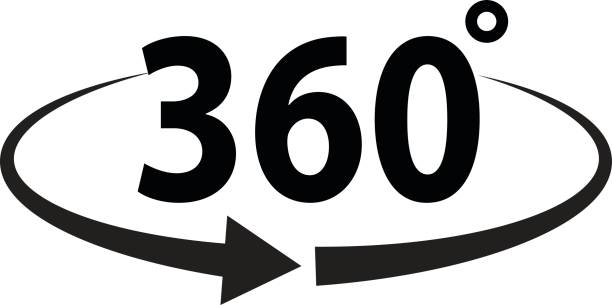 Winkel-360-Grad-Zeichen-Symbol – Vektorgrafik