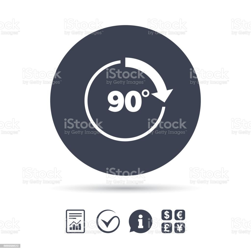 Angle 90 Degrees Sign Icon Geometry Math Symbol Stock Vector Art