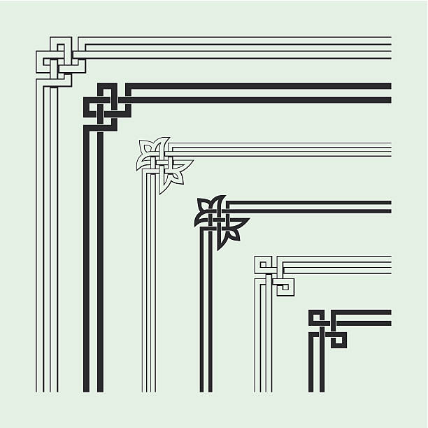 Angle Decoration of Chinese traditional style Angle Decoration of Chinese traditional style,design elements. celtic style stock illustrations