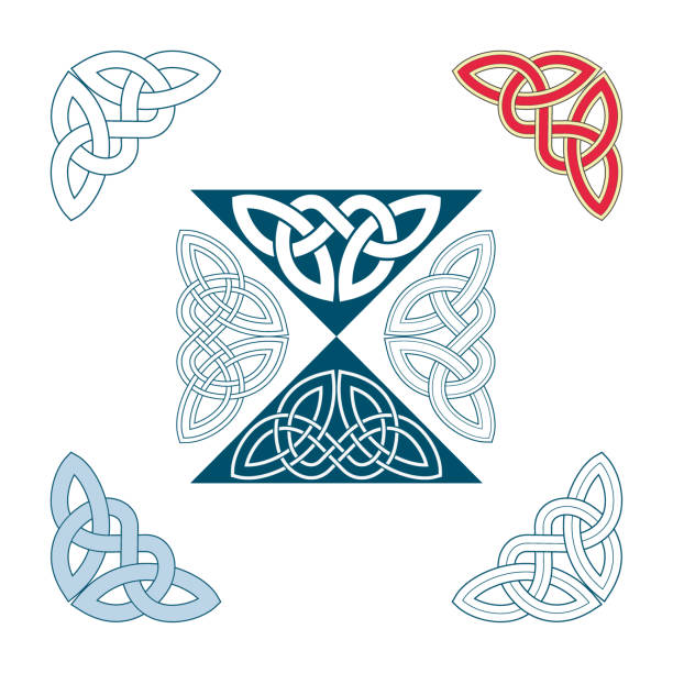 Angle Decoration of medieval style(Celtic knot) Angle Decoration of medieval style(Celtic knot) celtic knot stock illustrations