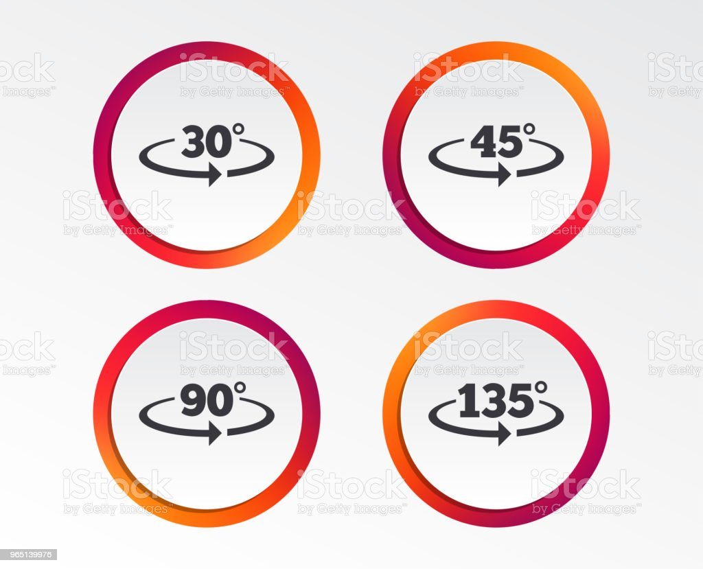 Angle degrees icons. Geometry math signs. angle degrees icons geometry math signs - stockowe grafiki wektorowe i więcej obrazów aplikacja mobilna royalty-free