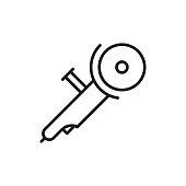 angle grinder icon on white background
