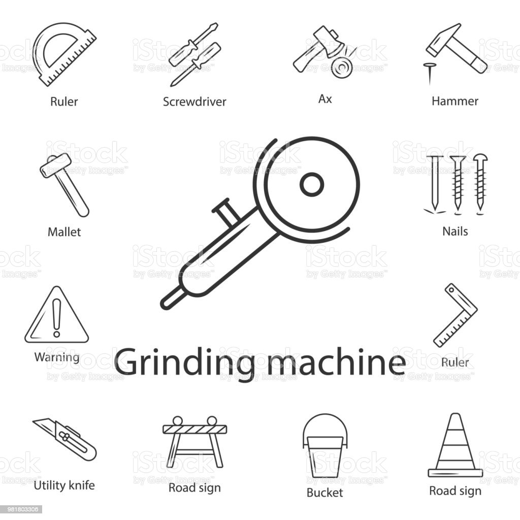 angle grinder icon simple element illustration angle grinder symbol How Are Fireworks Made Diagram simple element illustration angle grinder symbol design from construction collection set can be used for web and mobile illustration