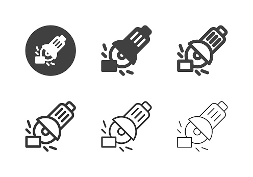 Angle Grinder Icons - Multi Series