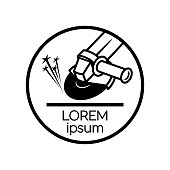 Angle grinder simple icon