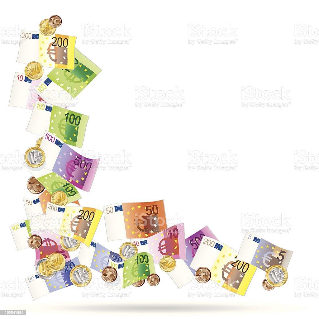 angle en euro - Illustration vectorielle