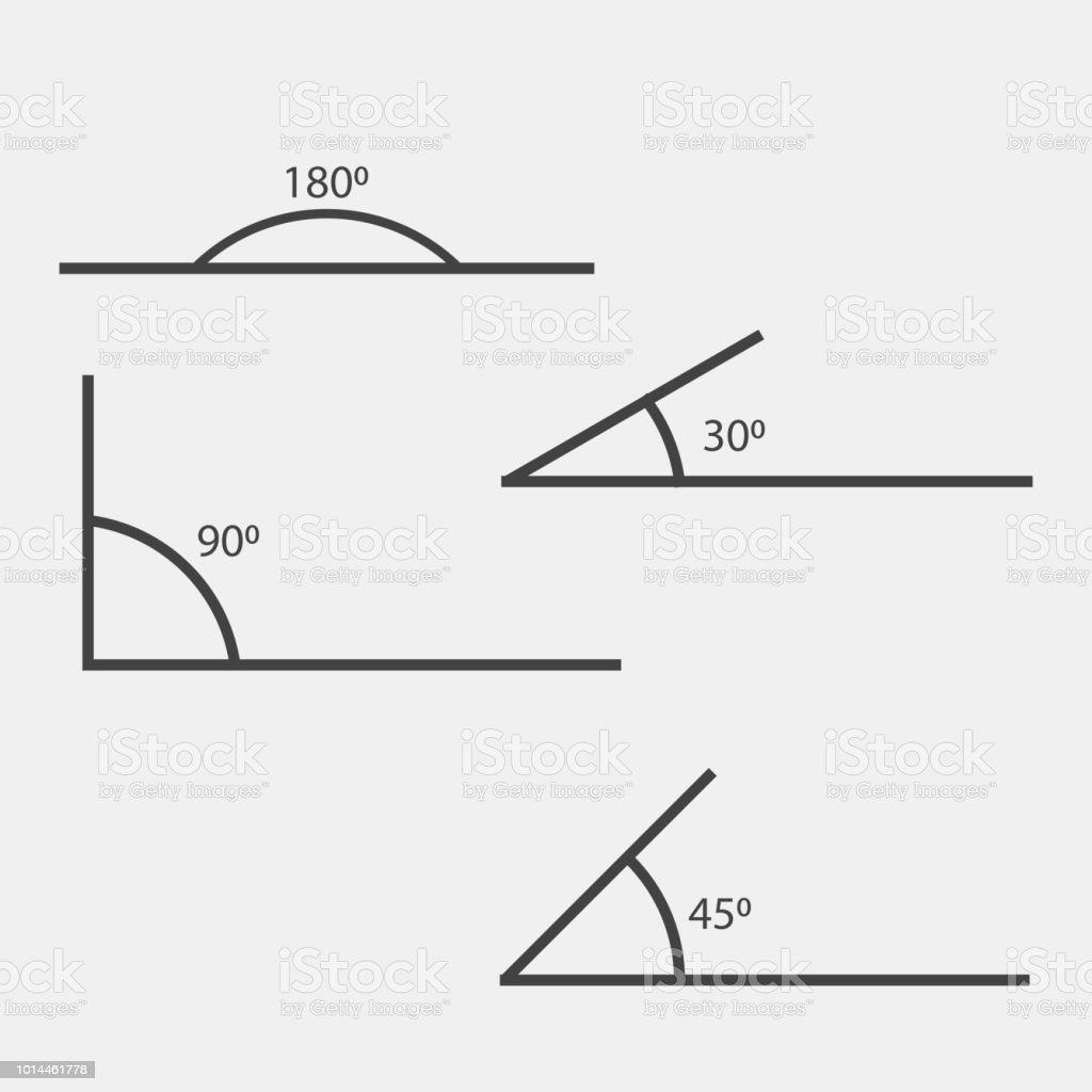 winkel von 180 grad 453090 vektorillustration das symbol der
