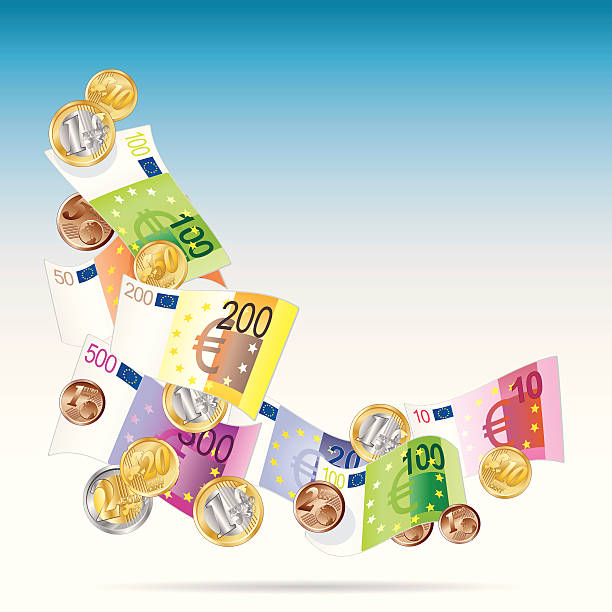 angle de billets Euro - Illustration vectorielle