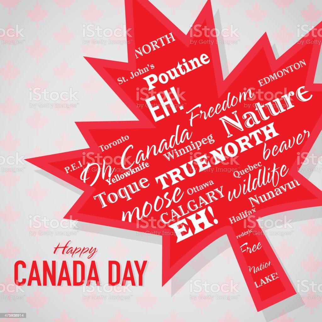 Hoja Angular Feliz Día De Canadá Celebración Plantilla De Diseño ...