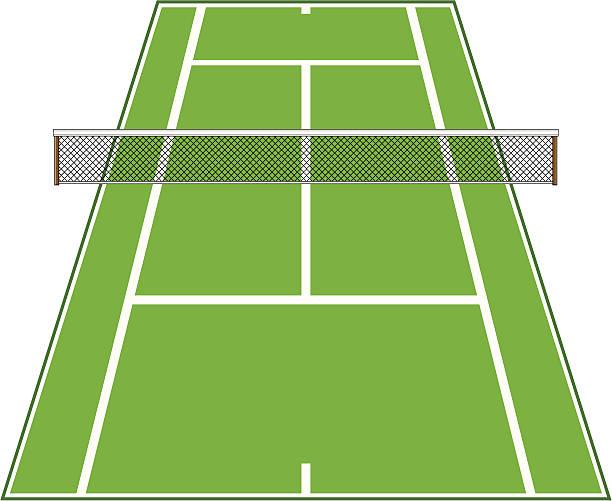 斜めのテニスコート、正味料金です。 - テニス点のイラスト素材/クリップアート素材/マンガ素材/アイコン素材