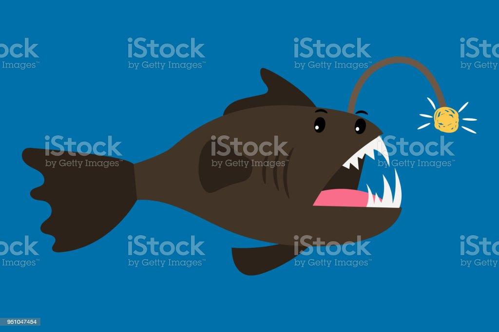 Vetores De Icone De Desenhos Animados De Peixe Pescador E Mais