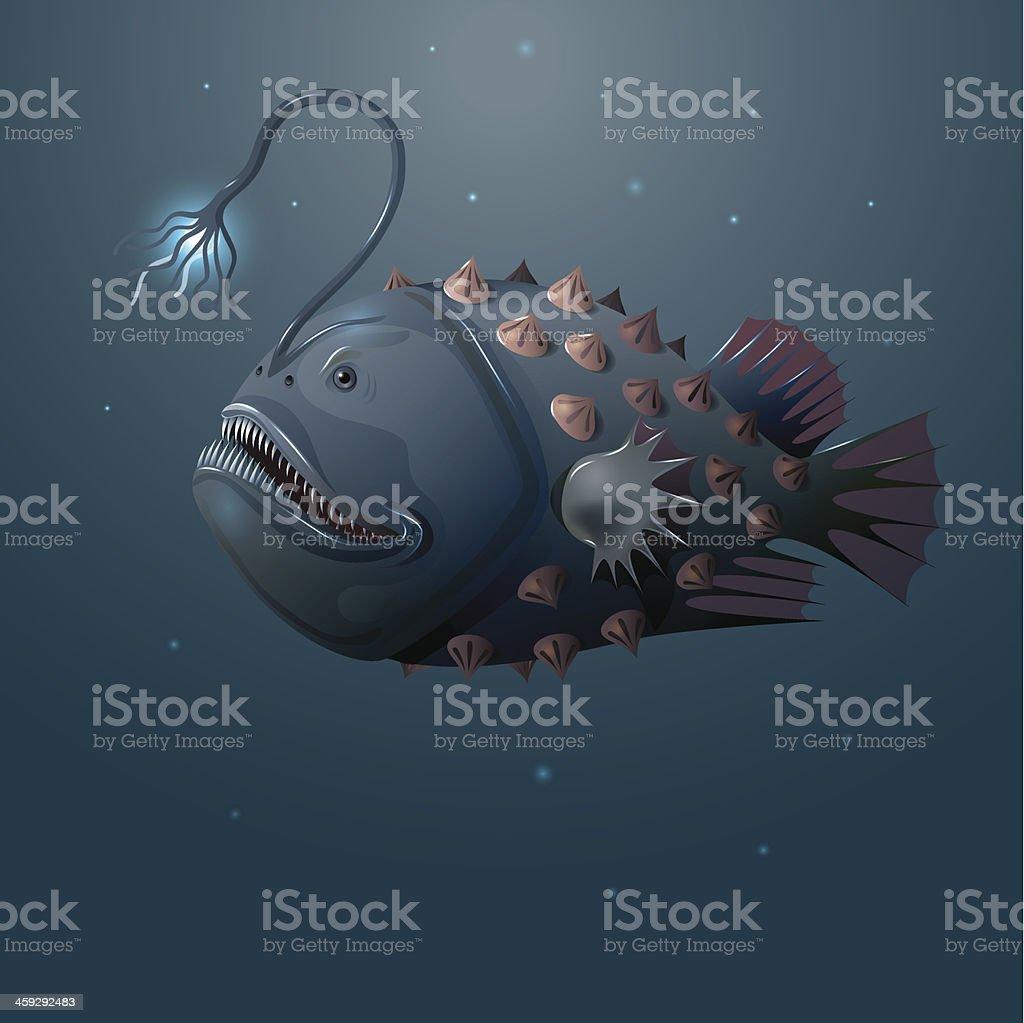 angler fish vector art illustration