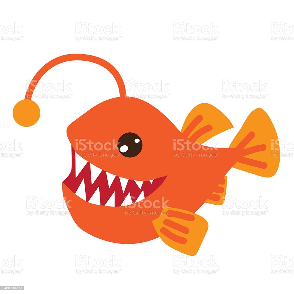 Angler Fish Vector Illustration Stock Vector Art & More Images of ...