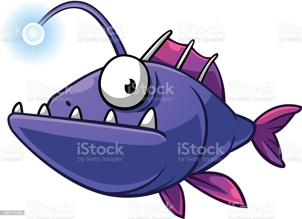 Anglerfish vector art illustration