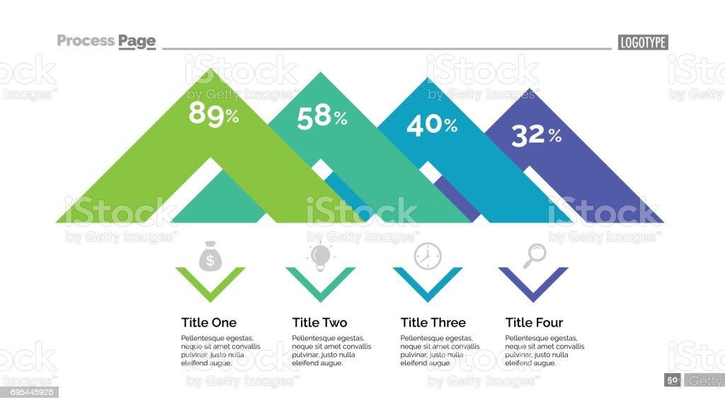 Plantilla de diapositiva de diagrama de ángulos - ilustración de arte vectorial