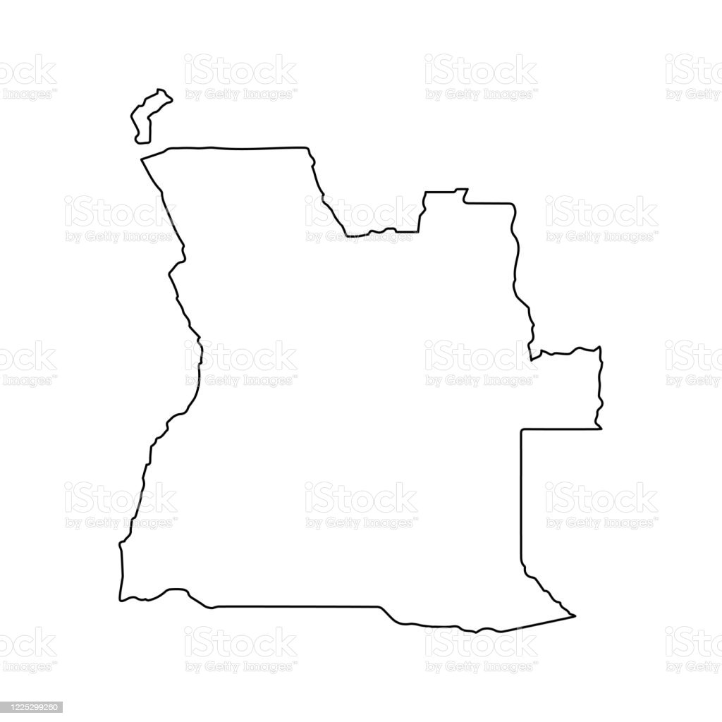 Picture of: Angola Map Line Outline Country Africa Map Illustration Vector African Isolated On White Background Stock Illustration Download Image Now Istock