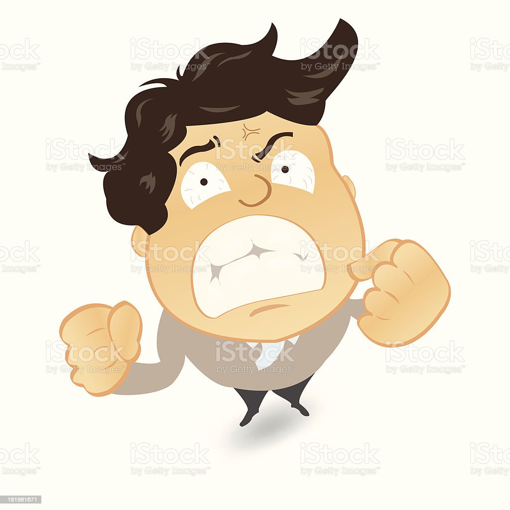 Angry and frustrated businessman royalty-free stock vector art