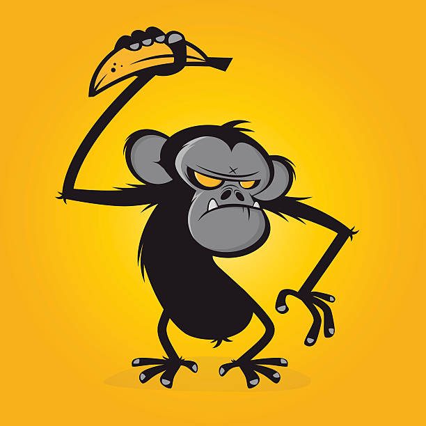 Cartoon Of A Scary Monkey Clip Art Vector Images Illustrations