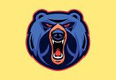 vector illustration of angry bear mascot