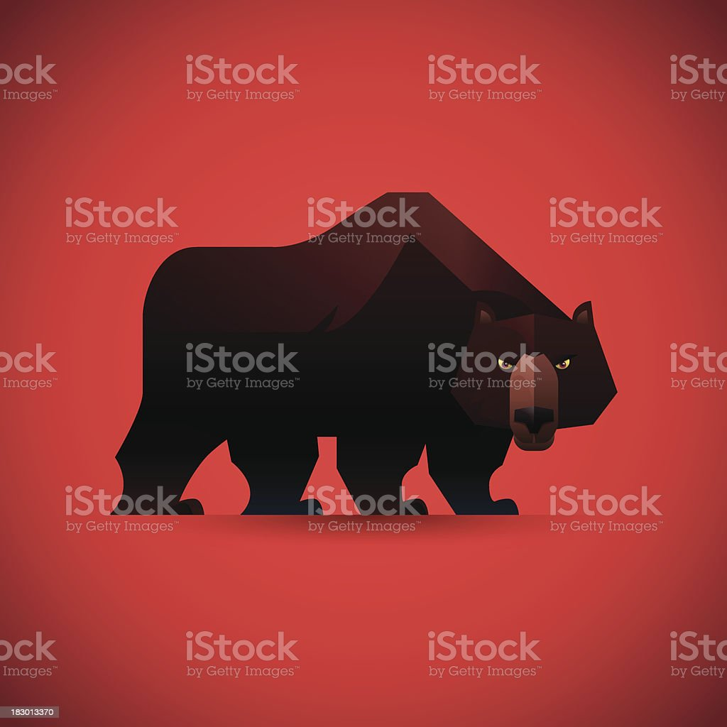 angry bear watching royalty-free angry bear watching stock vector art & more images of aggression