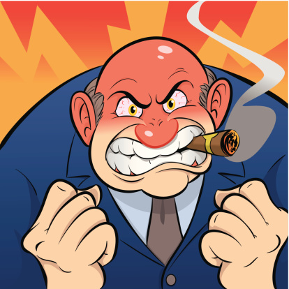 Angry Boss Stock Illustration - Download Image Now