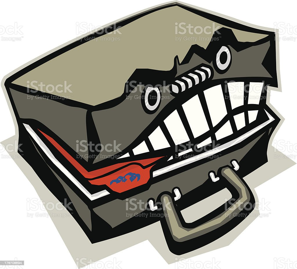 Angry Briefcase royalty-free stock vector art