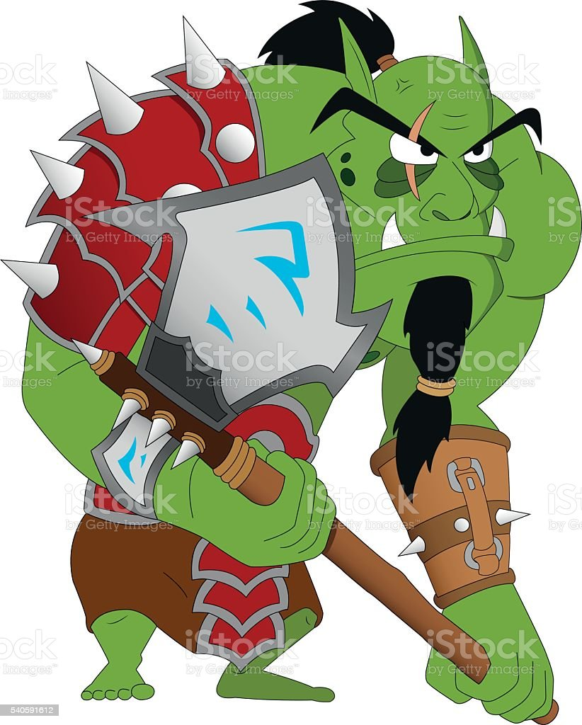 Angry Brute Warrior vector art illustration