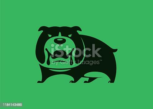 vector illustration of angry bulldog symbol