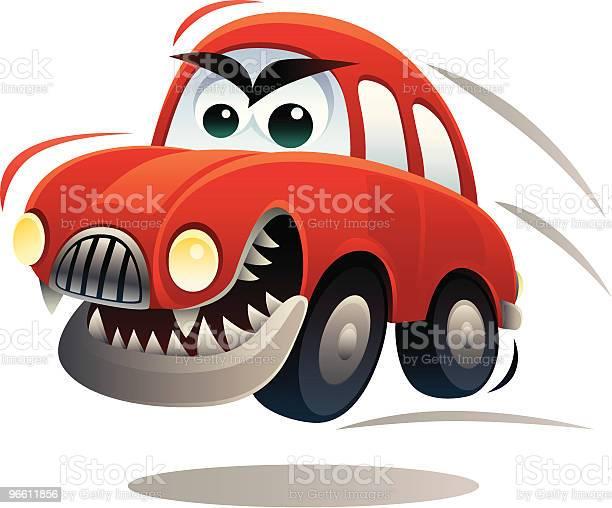 Злая Автомобиль — стоковая векторная графика и другие изображения на тему Автомобиль