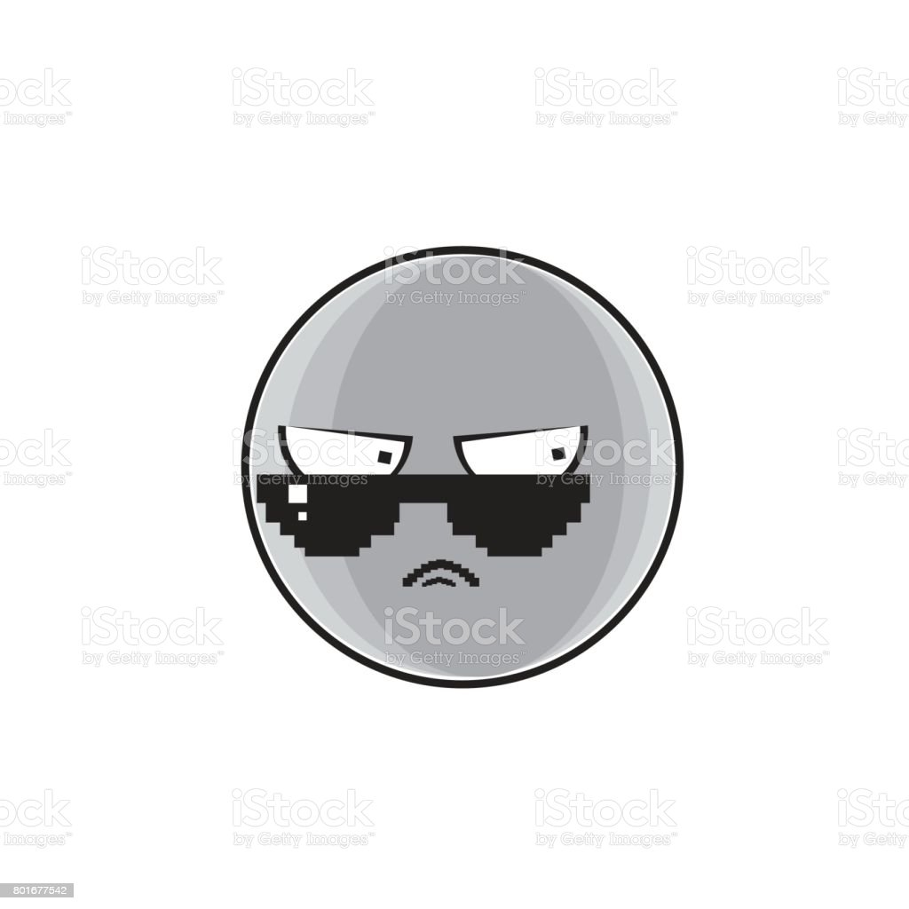 Angry Cartoon Face Expression People Emoticon Emoji vector art illustration
