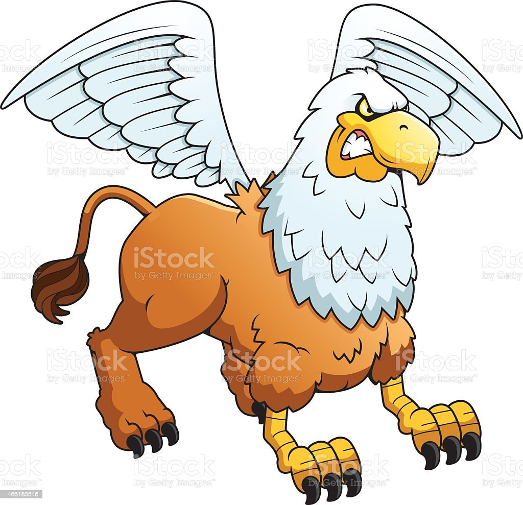 Griffin animated animal - Coloring pages - Print coloring