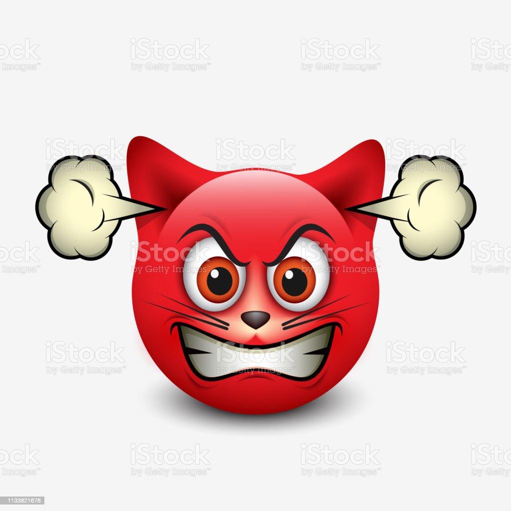Emoticone Chat Fache Emoji Smileyillustration Vectorielle Vecteurs Libres De Droits Et Plus D Images Vectorielles De Animaux De Compagnie Istock