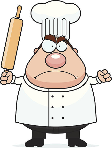 злая шеф-повара - только один мужчина stock illustrations