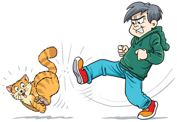 Royalty Free Cat Abuse Clip Art, Vector Images ...