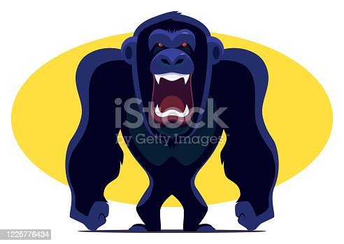 istock angry chimpanzee screaming 1225776434