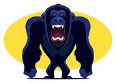 istock angry chimpanzee screaming 1225776434