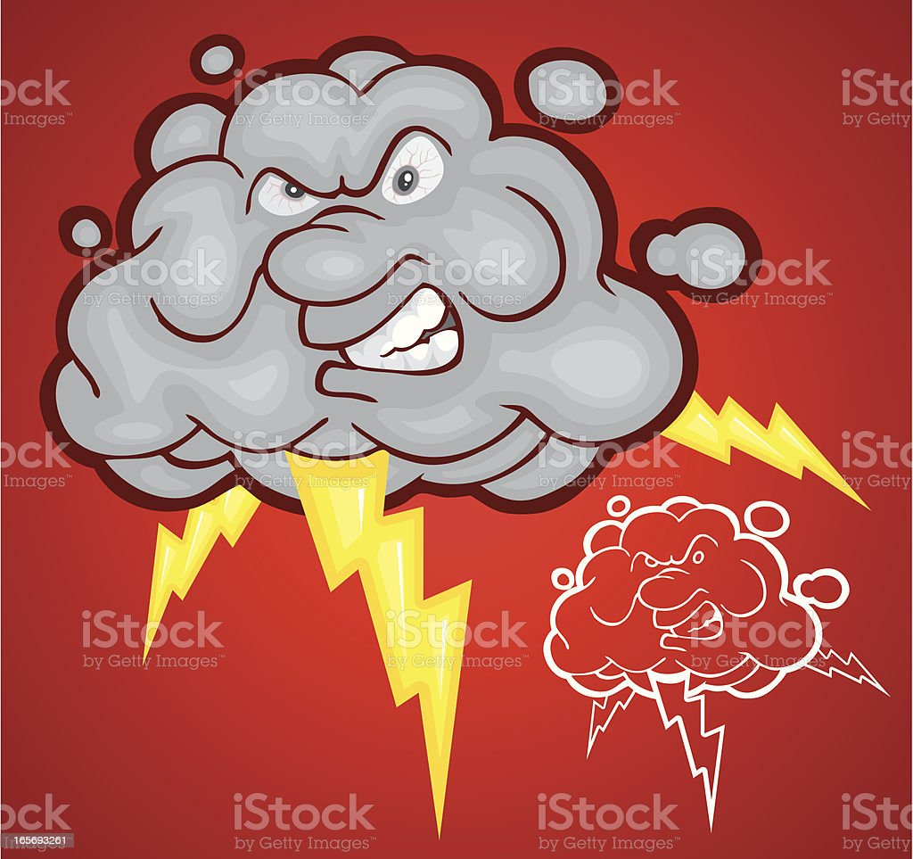 Angry Cloud royalty-free angry cloud stock vector art & more images of anger