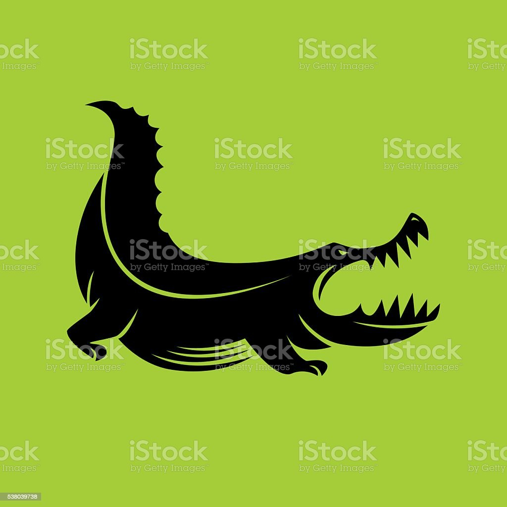 En colère crocodile - Illustration vectorielle