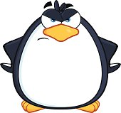 Angry Cute Penguin