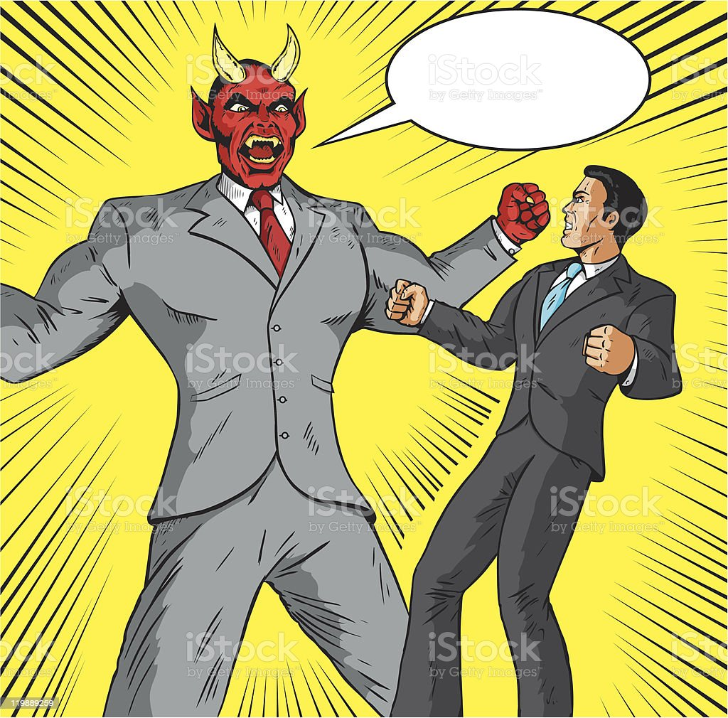 Angry Demon businessman royalty-free stock vector art