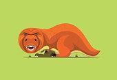 angry dinosaur roaring