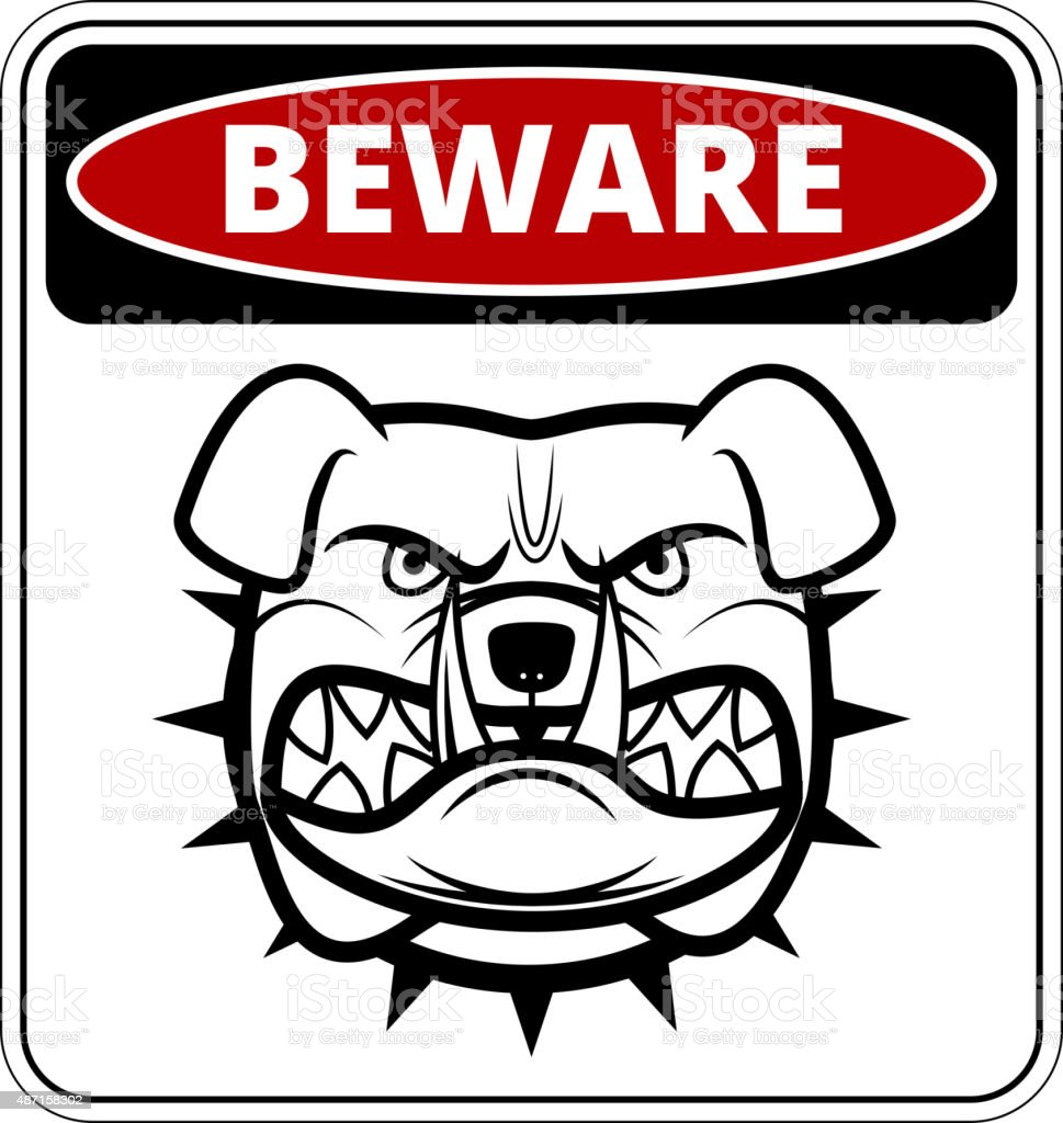 Angry dog vector art illustration