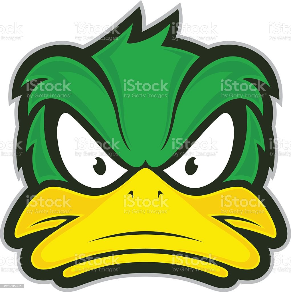 angry duck mascot stock vector art more images of aggression