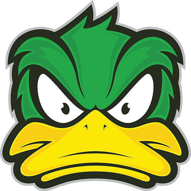 Angry duck mascot – Vektorgrafik
