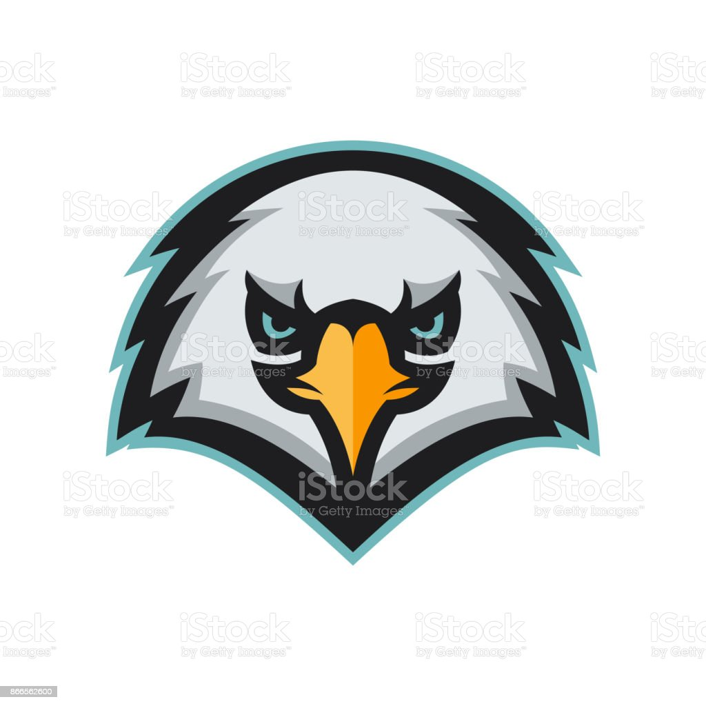 Angry Eagle Head Mascot Modern Professional Sport Emblem Stock ...